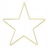 Grande étoile en métal doré à suspendre dans le sapin de Noël • Collection Bloomingville Les inutiles