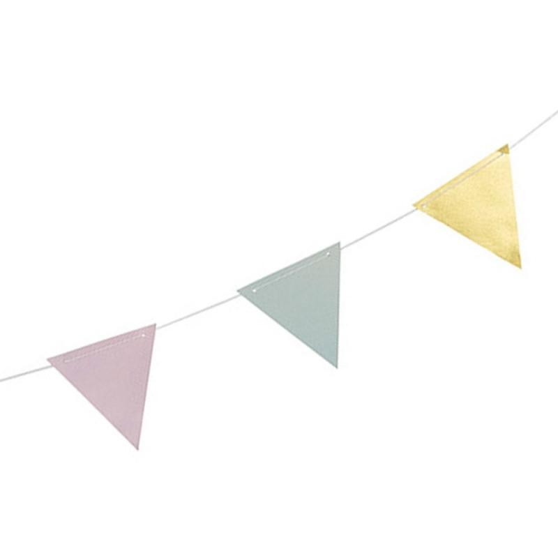 Guirlande de Fanions Pastel & Or -  Bloomingville - Boutique Les inutiles