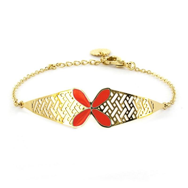 Bracelet Bali - Rouge Garance - Laëti Trëma - Boutique Les inutiles