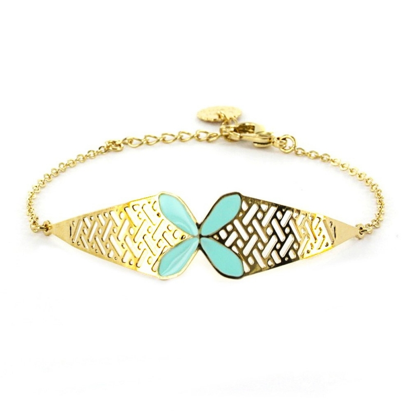 Bracelet Bali - Bleu Turquoise - Laëti Trëma - Boutique Les inutiles