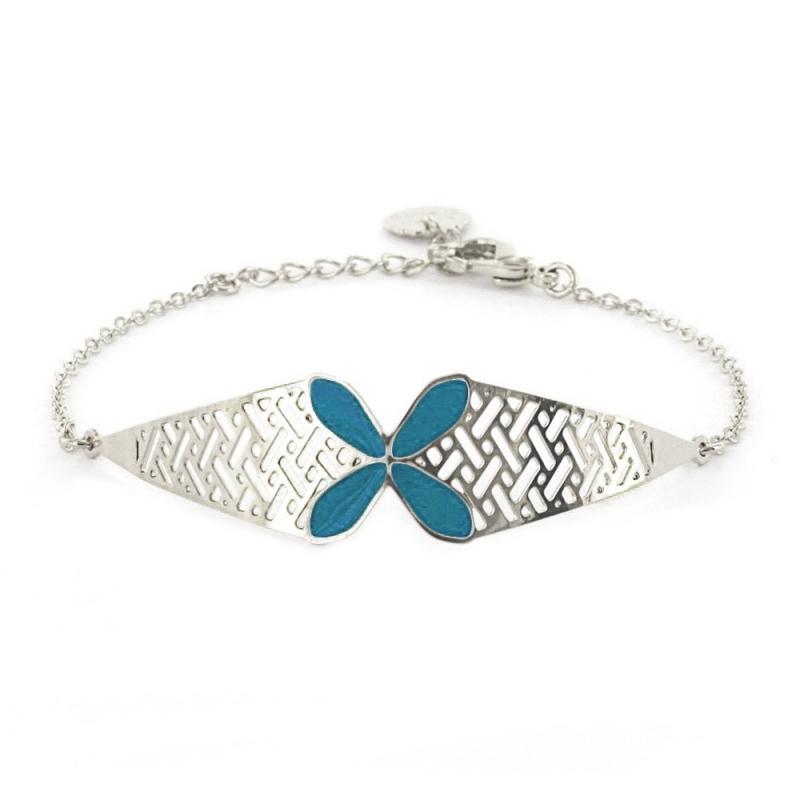 Bracelet Bali - Bleu Paon - Laëti Trëma - Boutique Les inutiles