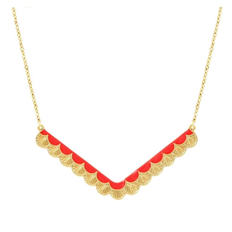 Collier Wave - Rouge Garance - Laëti Trëma - Boutique Les inutiles