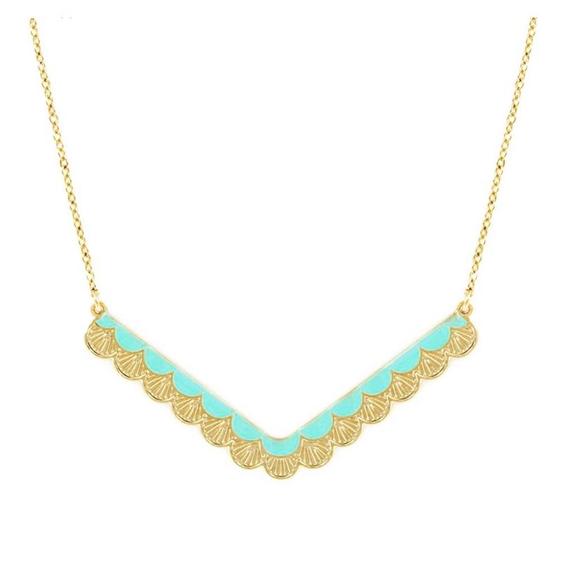 Collier wave turquoise - Laëti Trëma - Les inutiles