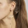 Boucles d'oreilles wave nude - Laëti Trëma - Les inutiles