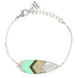 Bracelet Sunshade Argenté - Turquoise
