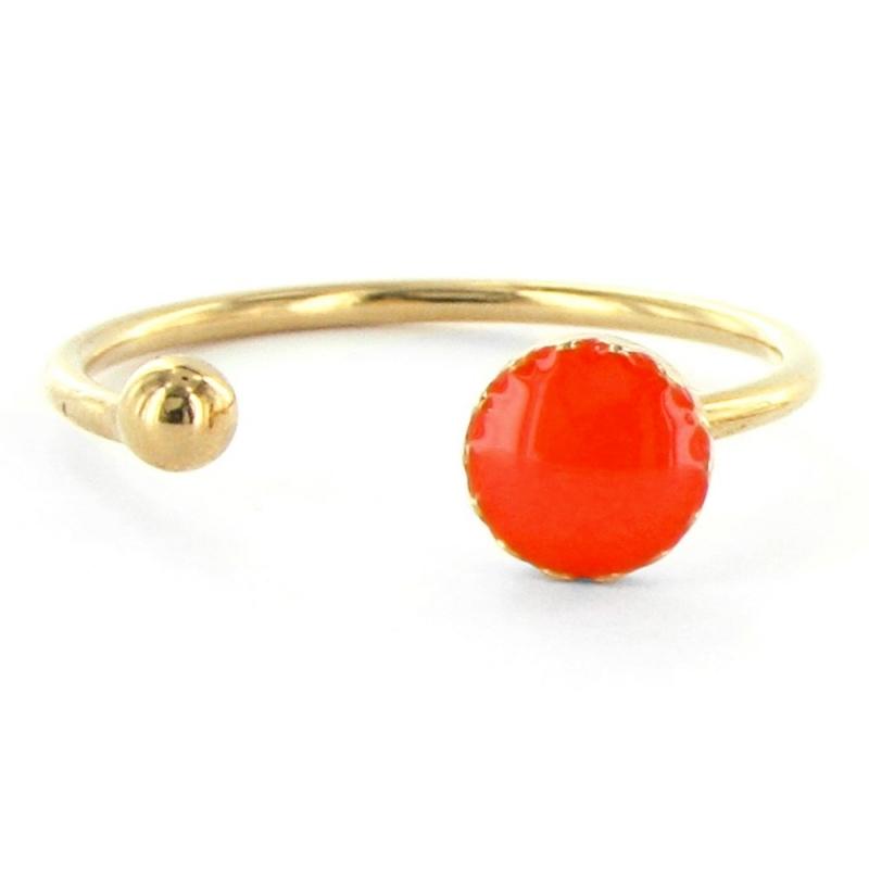 Bague Pure Réglable - Rouge Garance - Laëti Trëma - Boutique Les inutiles