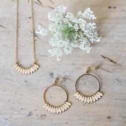Collier et boucles d'oreilles Bali or et Nude - Laëti Trëma - Les inutiles