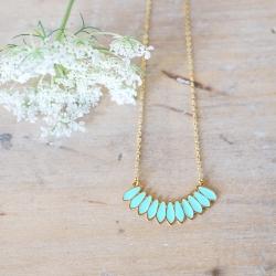 Collier Bali or et turquoise - Laëti Trëma - Les inutiles