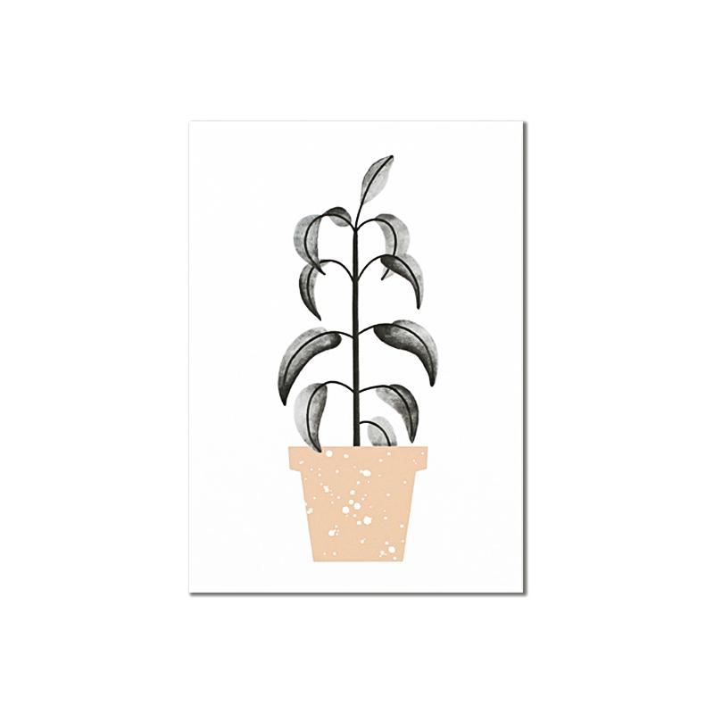 Carte Postale Botanic - Green Plant - Illustrée par Audrey Jeanne - Boutique Les inutiles