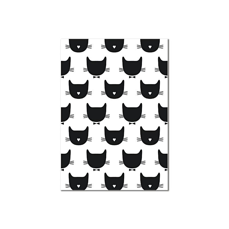 Carte Postale Kitty Chic - Chat Noeud Pap - Illustrée par Audrey Jeanne - Boutique Les inutiles