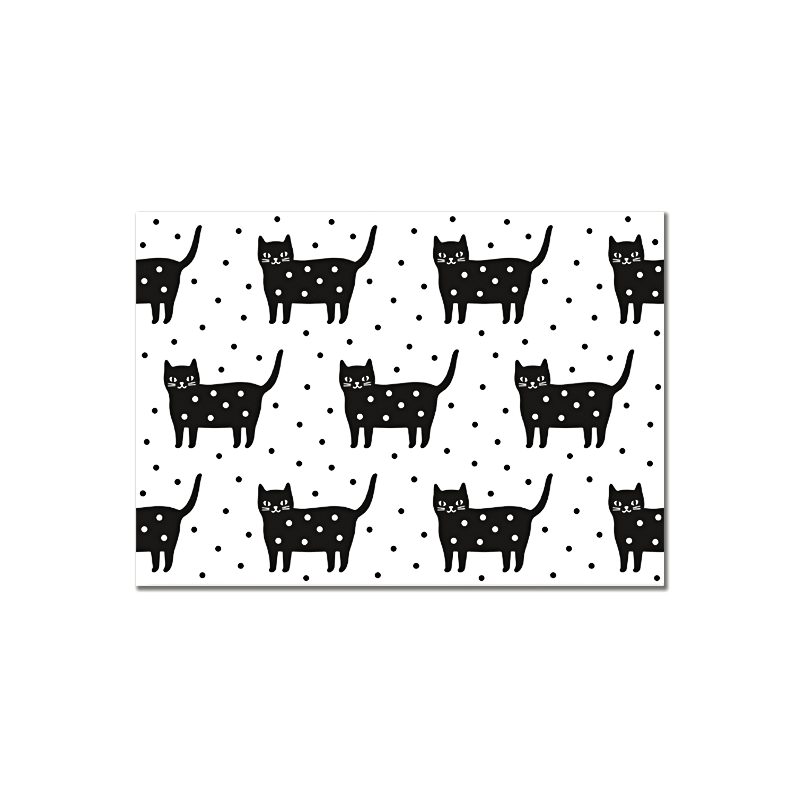 Carte Postale Kitty Dotty - Chat à Pois- Illustrée par Audrey Jeanne - Boutique Les inutiles