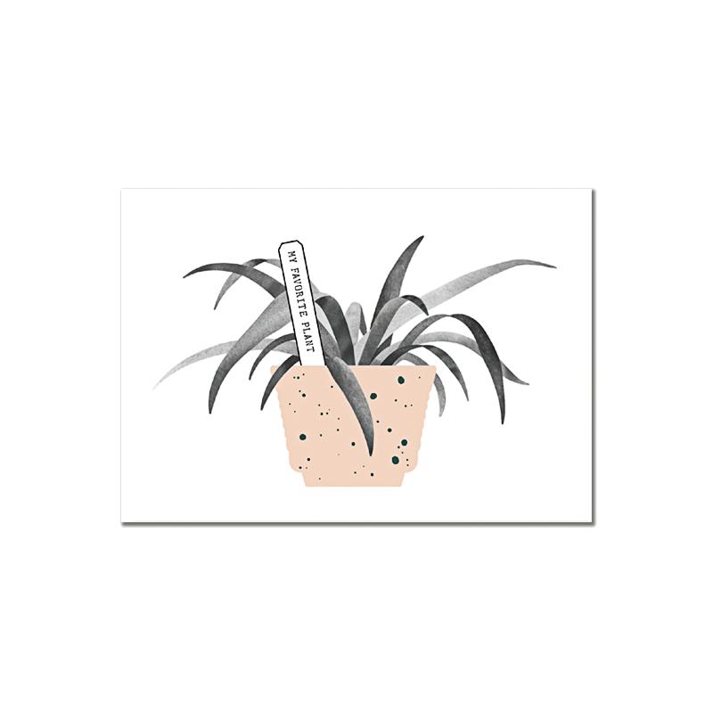 Carte Postale Botanic - My Favorite Plant - Illustrée par Audrey Jeanne - Boutique Les inutiles