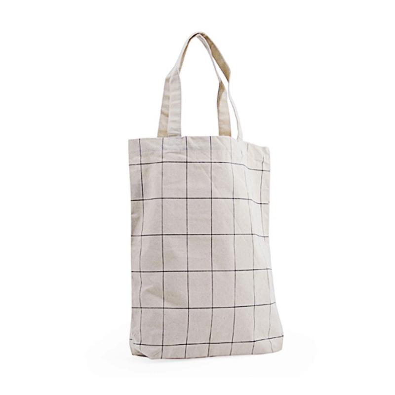 Tote Bag Grid - Toile en coton épaisse et résistante - Boutique Les inutiles