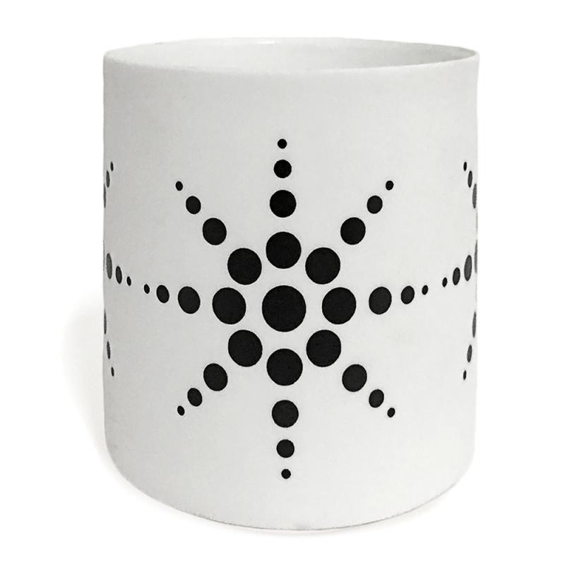 Photophore en Porcelaine Noir & Blanc - Asa - Boutique Les inutiles