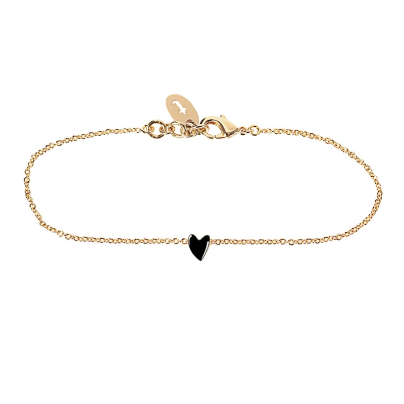 Bracelet Coeur Noir - Titlee - Collection Grant - Boutique Les inutiles
