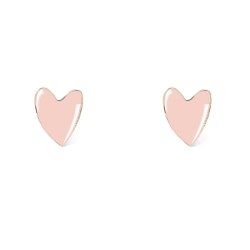 Boucles d'oreilles tige poucette coeur - Grant Titlee - Boutique Les inutiles - Puces rose