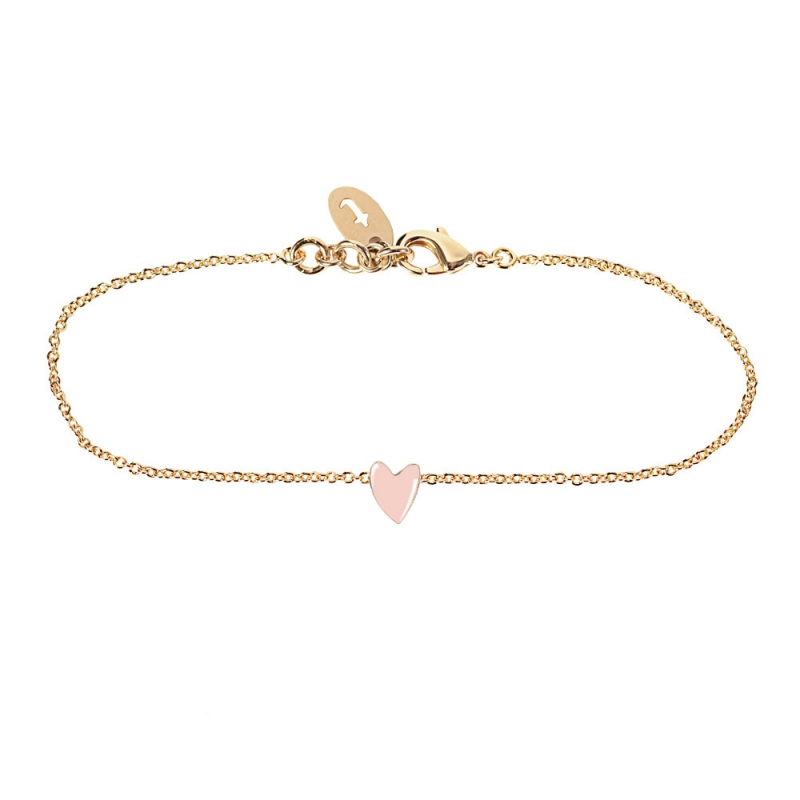 Bracelet Coeur Rose - Titlee - Collection Grant - Boutique Les inutiles
