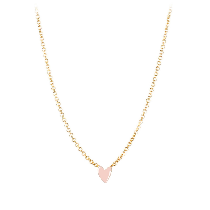 Collier Cœur Rose - Titlee - Collection Grant - Boutique Les inutiles