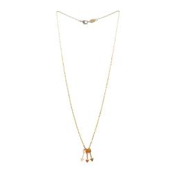 Collier 3 flèches - Arrows Titlee - Pendentif moutarde et rose - Les inutiles