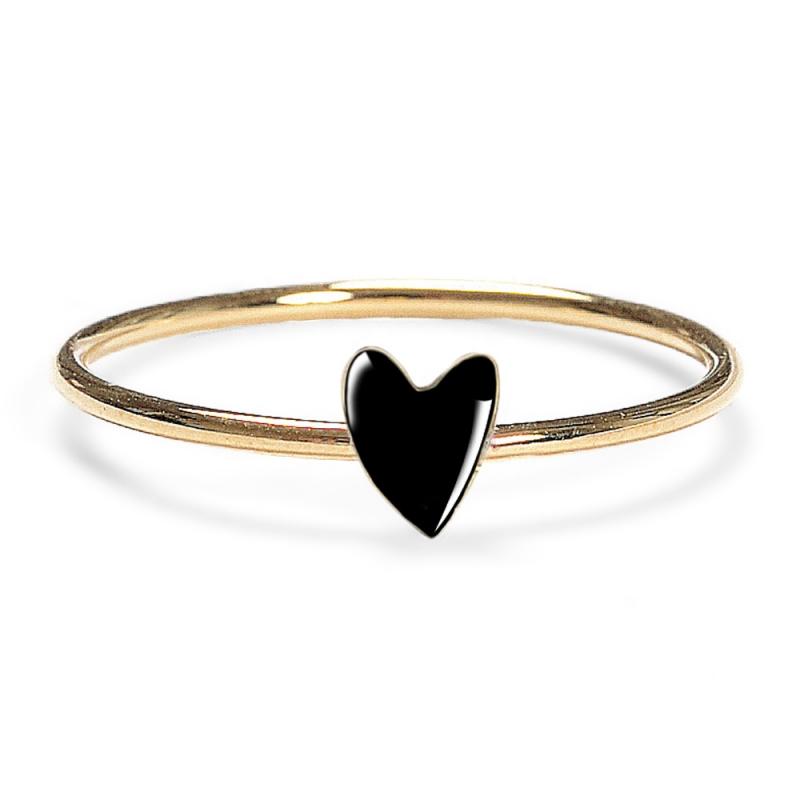 Bague Coeur Noir - Anneau Grant Titlee - Boutique Les inutiles