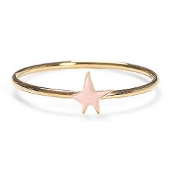 Bague Etoile Rose Pâle - Anneau Star Pastel - Collection Titlee Boutique Les inutiles