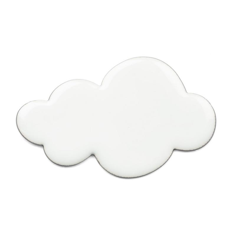 Broche Nuage Blanc - Bijoux Emmanuelle Biennassis - Boutique Les inutiles
