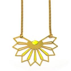 Sautoir Fleur D'ibiscus - Jaune Ananas - Marie Duvert