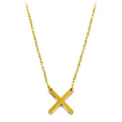 Collier croix dorée - les inutiles