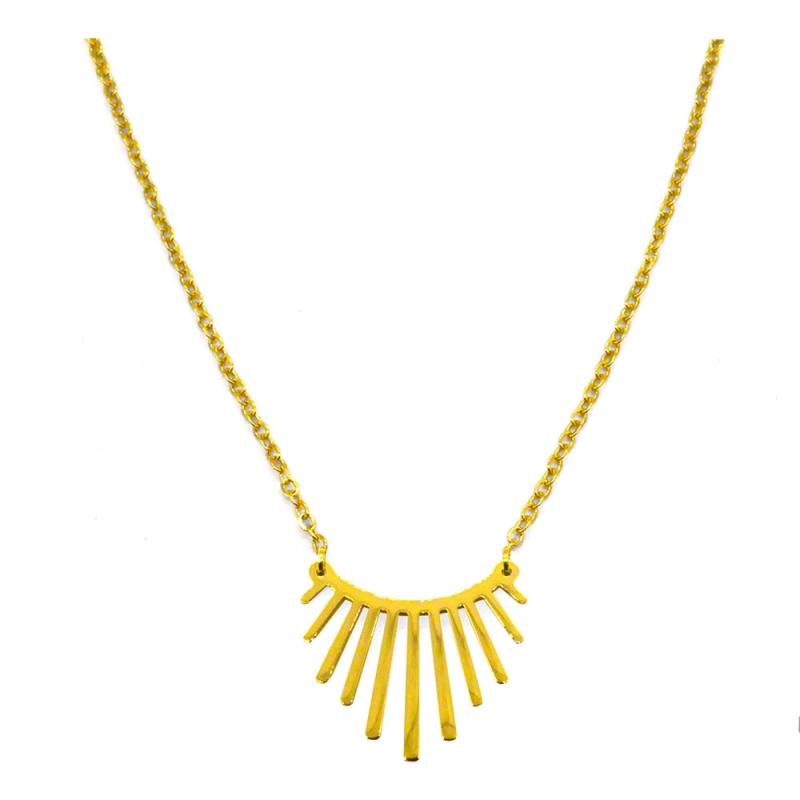 Collier graphique doré - pendentif sunside - les inutiles