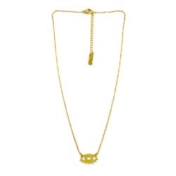 Collier oeil or - pendentif twiggy doré - les inutiles