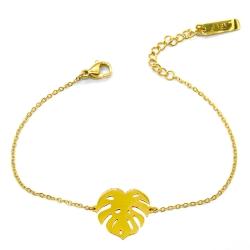 Bracelet Monstera - Motif botanique - Les inutiles