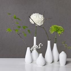 Petits Vases Blanc en porcelaine mate par Räder - Les inutiles