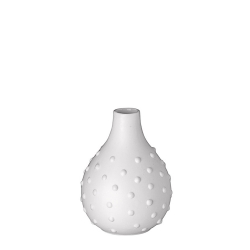 Vase Grenade en porcelaine blanche mate par Räder - Les inutiles