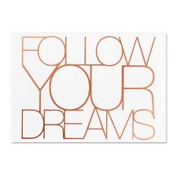 Carte postale cuivrée - follow your dreams - postcard - rader