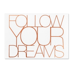 Carte postale cuivrée - follow your dreams - postcard - rader