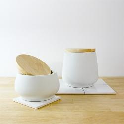 Pots de cuisine blanc, pot à sucre et pot à farine, collection bloomingville - vaisselle les inutiles