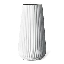 Grand vase origami mat en porcelaine blanche - hubsch