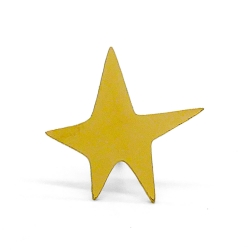 Pin's Étoile Or Broche dorée • Star Lapel Pin Golden Collection Bijoux Titlee • Boutique Les inutiles