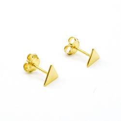 Boucles d'oreilles triangle doré - puces tige poussette triangulaires dorées  muja juma - boutique les inutiles