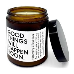 bougie aromatique à la cire de soja et aux huiles essentielles - rosemary x lavender - boutique les inutiles