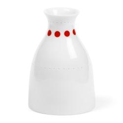 Soliflore à pois rouges en porcelaine - Vase rouge de la collection Hay d'Anne Black. Boutique Les inutiles