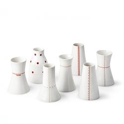 Soliflore en porcelaine - Vase rouge de la collection Hay d'Anne Black. Boutique Les inutiles