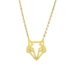 Petit Collier Renard Origami doré à l'or fin - Bijoux 7bis - Boutique Les inutiles