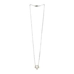 Petit Collier Renard Origami argenté - Bijoux 7bis - Boutique Les inutiles