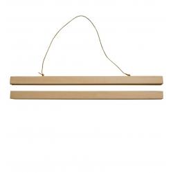 Accroche poster aimanté - baguettes en bois - reglettes affiches - Boutique les inutiles