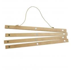 Porte Affiche en chêne - réglette en bois pour suspendre les affiches - Boutique Les inutiles