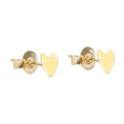 Boucles d'oreilles tige poucette coeur - Grant Titlee - Boutique Les inutiles - Puces beige