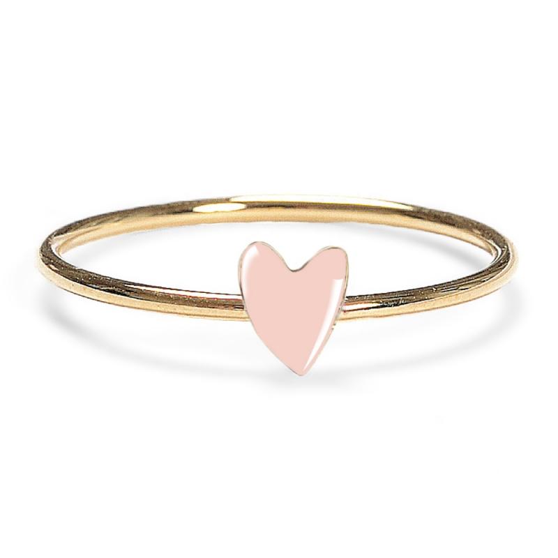 Bague Coeur Rose - Anneau Grant Titlee - Boutique Les inutiles