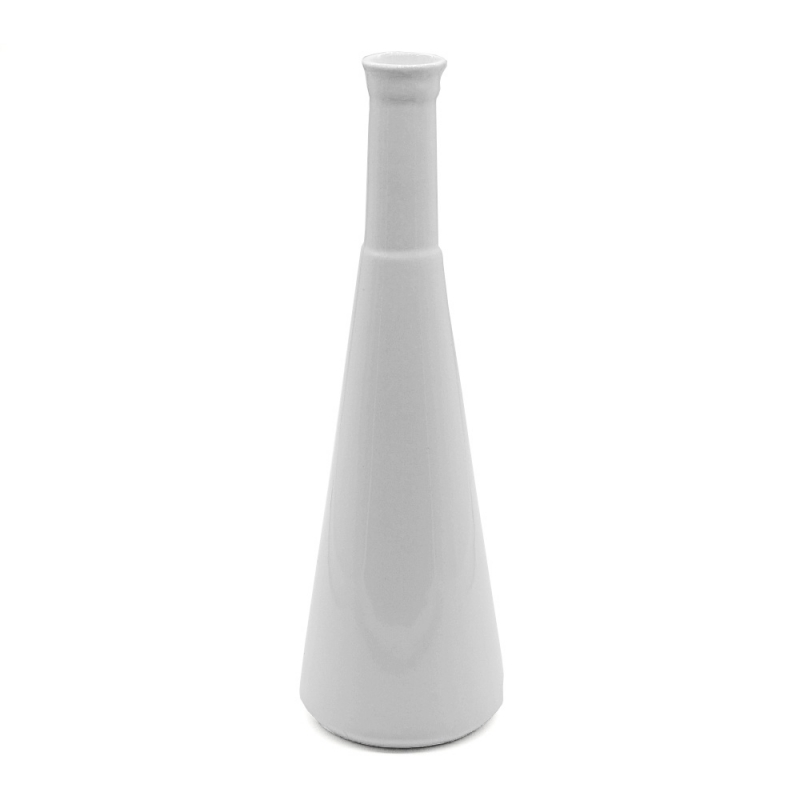 Vase Bouteille - Petit Soliflore Anna en céramique Blanche - Coming B - Boutique Les inutiles