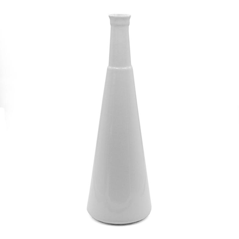 Vase Bouteille - Grand Soliflore Anna en céramique Blanche - Coming B - Boutique Les inutiles